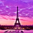 Paris City Eiffel Tower Fabric Silk Posters And Prints Home Wall Art 24x36 Inch