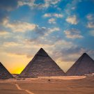 Egypt Ancient Pyramids Fabric Silk Posters And Prints Home Wall Art 24x36 Inch