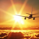 Beautiful Sunset Cloud Aircraft Fabric Silk Posters And Prints Home Wall Art 24x36 Inch