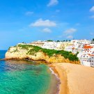 Carvoeir Lagoa Algarve Portugal Fabric Silk Posters And Prints Home Wall Art 24x36 Inch