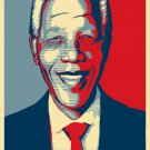 Nelson Mandela Freedom Fabric Silk Posters And Prints Wall Art 24x36 Inch