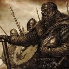 Vikings Medieval Fabric Silk Posters And Prints Home Decor Wall Art 24x36 Inch