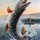 Fisherman Canoe Hook Fishing Fabric Silk Posters And Prints Home Decor Wall Art 24x36 Inch