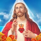 God Loves Heart Christ Jesus Fabric Silk Posters And Prints Home Decor Wall Art 24x36 Inch