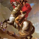 Napoleon Crossing The Alps Fabric Silk Posters And Prints Home Decor Wall Art 24x36 Inch