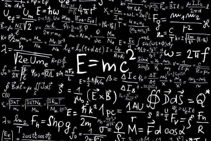 Albert Einstein Formula Mathematics Physics Fabric Silk Posters And Prints Wall Art 24x36Inch