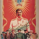 Soviet Union Era Propaganda With Stalin Communism Fabric Silk Posters And Prints Wall Art 24x36Inch