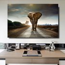 1 Panel HD Printed Animals Elephant Posters Pictures Wall Art Canvas Painting-With Framed