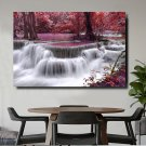 1 Panel HD Printed Waterfall Forest Posters Pictures Wall Art Canvas Painting-With Framed