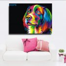 1 Panel HD Printed Colorful Dog With Hope Posters Pictures Wall Art Canvas Painting-With Framed