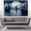 1 Panel HD Printed Sailling Boat Ship Seascape Posters Pictures Wall Art Canvas Painting-With Framed