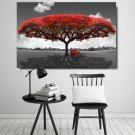 1 Panel HD Printed Red Tree Landscape Posters Pictures Wall Art Canvas Painting-With Framed