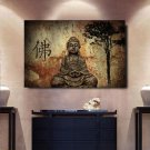 1 Panel HD Printed Retro Buddha Statue Posters Pictures Wall Art Canvas Painting-With Framed
