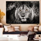 1 Panel HD Printed Black White Lion Animal Posters Pictures Wall Art Canvas Painting-With Framed