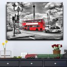 1 Panel HD Printed Red London Bus Posters Pictures Wall Art Canvas Painting-With Framed