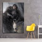 1 Panel HD Printed Game Of Thrones Wolf Posters Pictures Wall Art Canvas Painting-With Framed