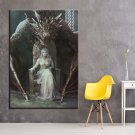1 Panel HD Printed Game Of Thrones Princess Posters Pictures Wall Art Canvas Painting-With Framed
