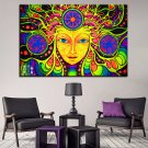 1 Panel HD Printed Psychedelic Mandala Posters Pictures Wall Art Canvas Painting-With Framed