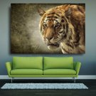 1 Panel HD Printed Bengal Tiger Wild Animals Posters Pictures Wall Art Canvas Painting-With Framed