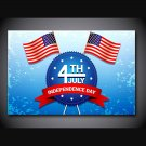 1 Panel HD Printed Independence Day Of US Posters Pictures Wall Art Canvas Painting-With Framed