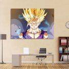 1 Panel HD Printed Dragon Ball Z Saiyan Posters Pictures Wall Art Canvas Painting-With Framed