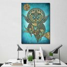 1 Panel HD Printed Color Owl Posters Pictures Wall Art Canvas Painting-With Framed