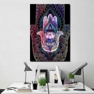 1 Panel HD Printed Hamsa Lotus Posters Pictures Wall Art Canvas Painting-With Framed