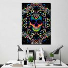 1 Panel HD Printed Colorful Skull Posters Pictures Wall Art Canvas Painting-With Framed