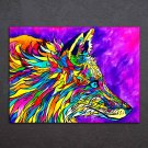 1 Panel HD Printed Colorful Foxdelic Posters Pictures Wall Art Canvas Painting-With Framed