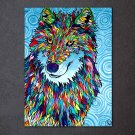 1 Panel HD Printed Colorful Wolf Posters Pictures Wall Art Canvas Painting-With Framed