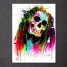 1 Panel HD Printed Color Skull Posters Pictures Wall Art Canvas Painting-With Framed