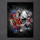 1 Panel HD Printed Cartoon Skull Posters Pictures Wall Art Canvas Painting-With Framed