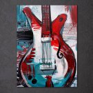 1 Panel HD Printed Abstract Guitar Posters Pictures Wall Art Canvas Painting-With Framed