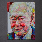 1 Panel HD Printed Lee Kuan Yew Singapore Posters Pictures Wall Art Canvas Painting-With Framed