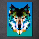 1 Panel HD Printed Low Poly Wolf Posters Pictures Wall Art Canvas Painting-With Framed