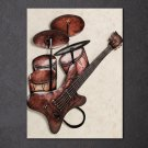 1 Panel HD Printed Guitar Music Instrument Posters Pictures Wall Art Canvas Painting-With Framed