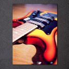 1 Panel HD Printed Music Instrument Guitar Posters Pictures Wall Art Canvas Painting-With Framed