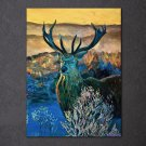 1 Panel HD Printed Color Deer Posters Pictures Wall Art Canvas Painting-With Framed