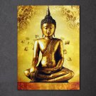 1 Panel HD Printed Golden Buddha Posters Pictures Wall Art Canvas Painting-With Framed