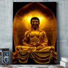 1 Panel HD Printed Golden Zen Buddha Posters Pictures Wall Art Canvas Painting-With Framed