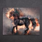 1 Panel HD Printed Blooming Horse Posters Pictures Wall Art Canvas Painting-With Framed