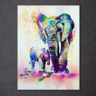 1 Panel HD Printed Animal Elephant Son Posters Pictures Wall Art Canvas Painting-With Framed