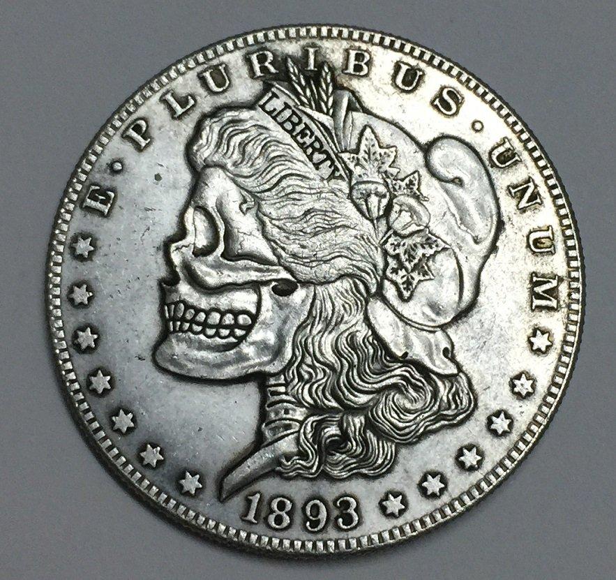 Hobo Nickel 1893-S USA Morgan Dollar Coin Copy Type