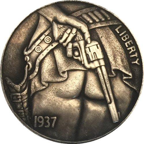 Hobo Nickel 1937-D 3-Legged Buffalo Nickel Coin Copy Type 5