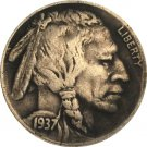 Hobo Nickel 1937-D 3-Legged Buffalo Nickel Coin Copy Type 12