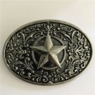 Oval Star Western Cowboy Belt Buckle