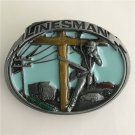 Lines Man Western Cowboy Men Belt Buckles Fit 4cm Wide Belt