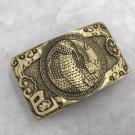 3D Bronze Cobra Solid Brass Western Cowboy Men Belt Buckles Fit 4cm Wide Belt