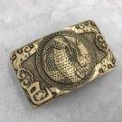 3D Bronze Cobra Solid Brass Western Cowboy Men Belt Buckles Fit 4cm Wide Belt