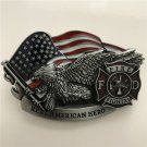 3D Eagle Real American Hero Fire Fighters Western Cowboy Men Belt Buckles Fit 4cm Wide Belt